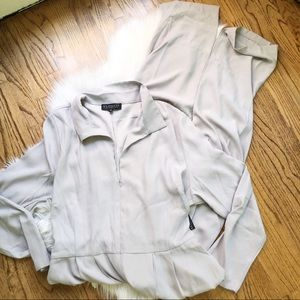NWT Eloquii Gray Long Sleeve Jumpsuit